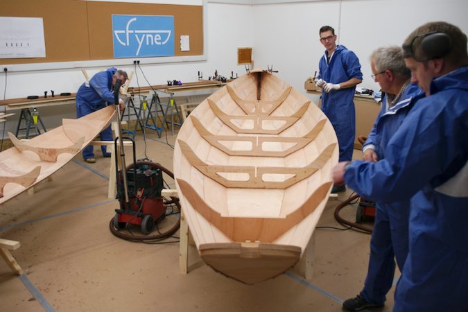 Boatbuilding course in our fully-equipped workshop at Fyne Boat Kits