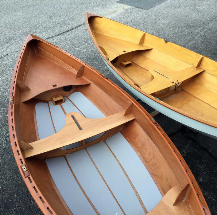 Comparison of the Skerry with broken inwales and without