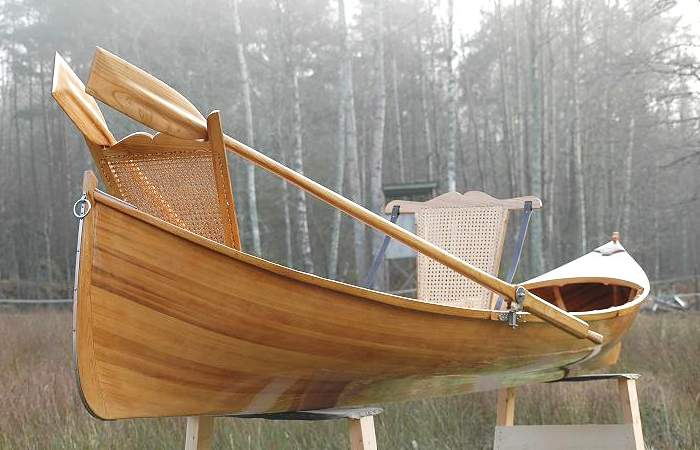 Adirondack guide boat is a fast lightweight rowing boat