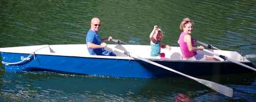 The 16 ft Bee rowing boat for two rowers