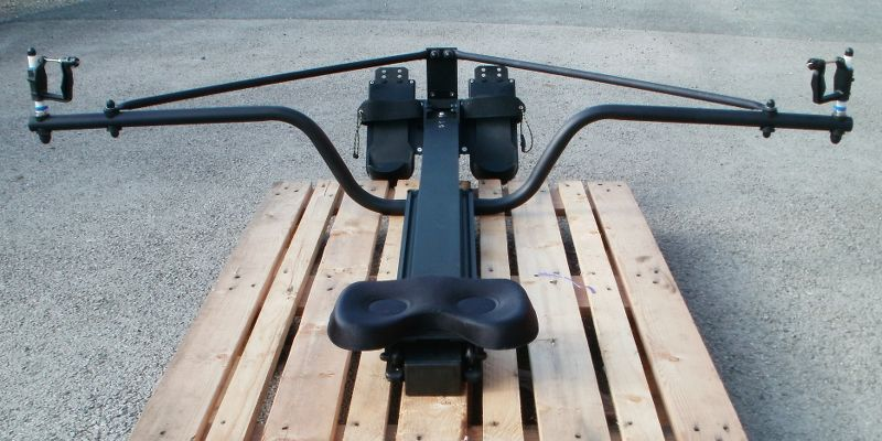 The Big River rowing frame for sliding-seat sculling boats
