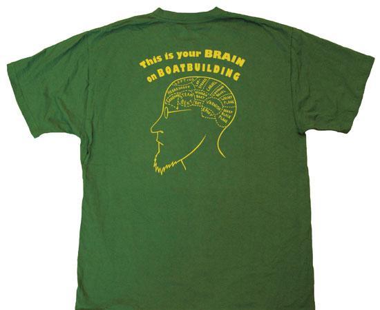 Safety Yellow Shirts >> Boatbuilding Brain T-Shirt - Fyne Boat Kits