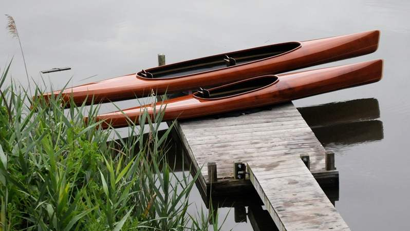 Tandem and solo microBootlegger kayaks