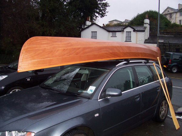 The Canadian canoe is light enough for a car roof rack