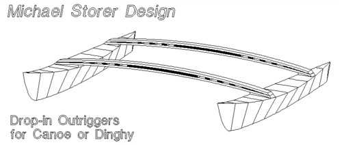 removable, designer Michael Storer's drop-in outriggers turn a canoe ...
