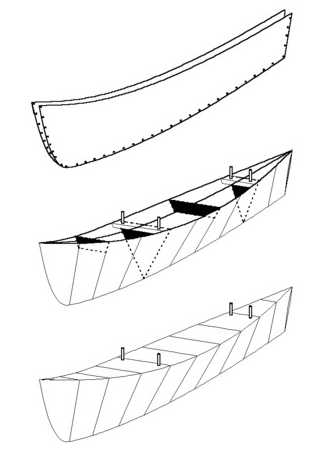 Drop-in canoe outriggers by Michael Storer