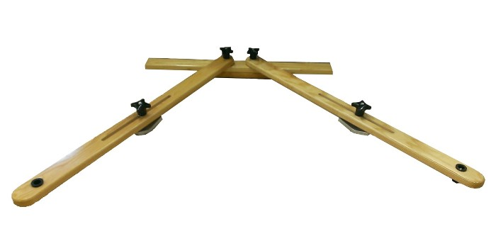 Adjustable canoe rowing rig