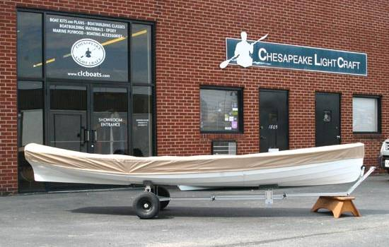 Canvas boat cover for a Chester Yawl