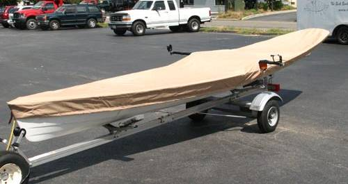 Canvas boat cover for a Wherry
