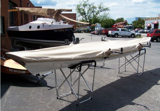 Canvas boat cover for a Tandem Wherry