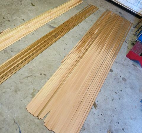 Western red cedar varies in colour along the length of the timber