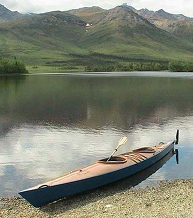 Wooded double chesapeake kayak built from plans