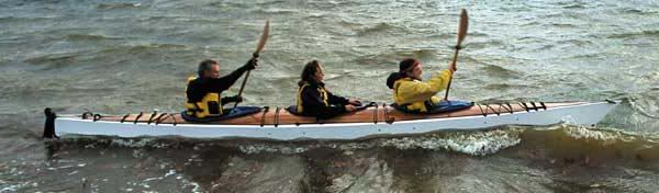 Chesapeake triple kayak from Fyne Boat Kits