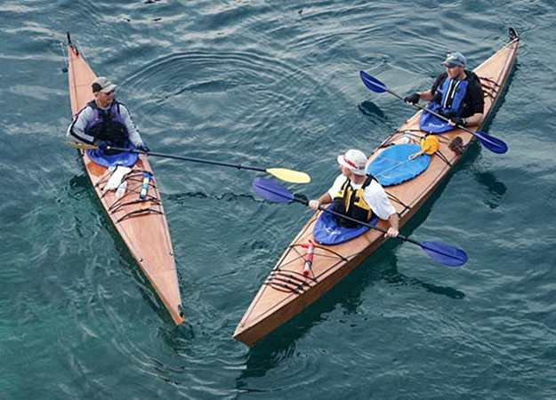 Triple Kayak Made At Home From Plans