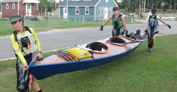 Kit or plans for a wooden triple kayak