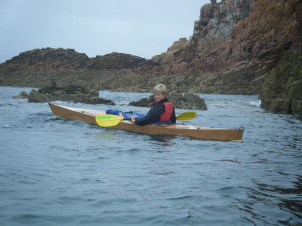 Touring expedition kayak excels in rough seas