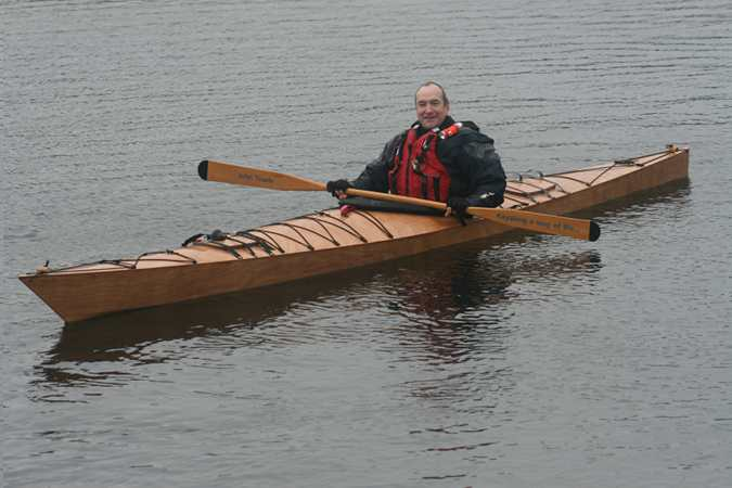 Sea kayak made in a week