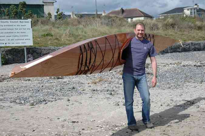 Easy to carry home built sea kayak