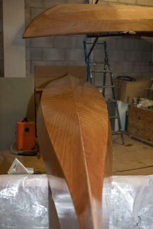 Grain showing through the epoxy glass fabric