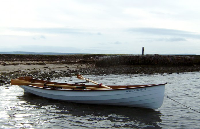 Chester Yawl home made clinker rowing boat from a fyne boat kit