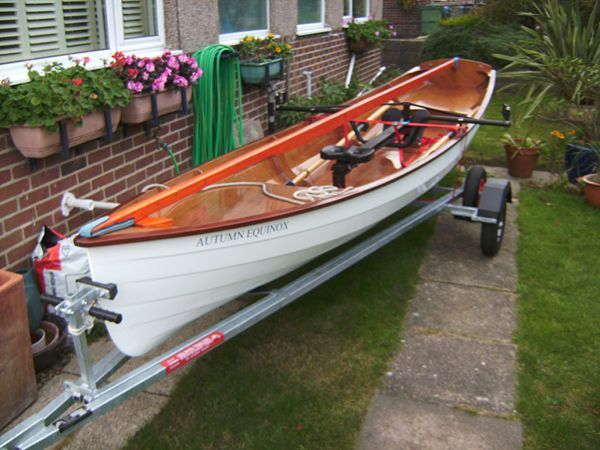 Finished building a rowing boat