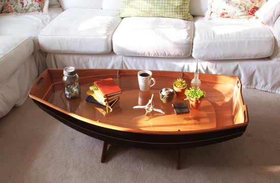Amazing Cradle Boat Coffee Table