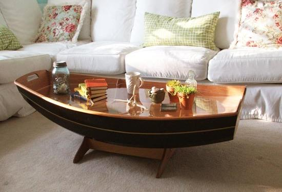 Boat shaped coffee table furniture table styles for 5ft coffee tables