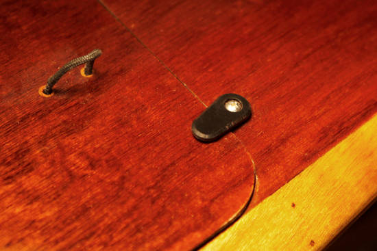 Smart black Delrin hatch togles (turndogs) to hold flush deck hatches on your wooden kayak