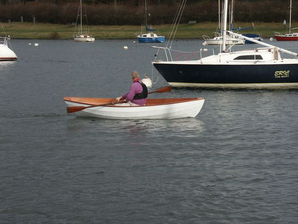 Home made rowing dory constructed in 5 days
