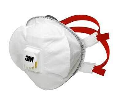 Reusable 3M 8835+ protective FFP3 valved particulate masks that are comfortable to wear without excessive heat build-up