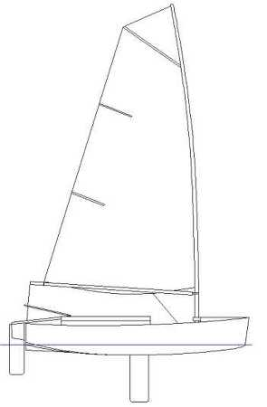 Duo dinghy sail plan