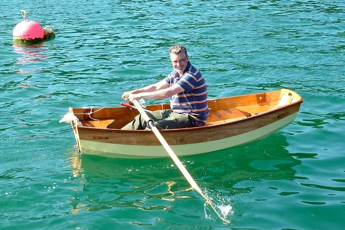 The Eastport Pram is light and easy to row