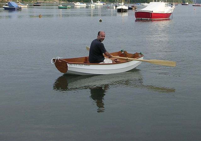 Rowing an Eastport pram
