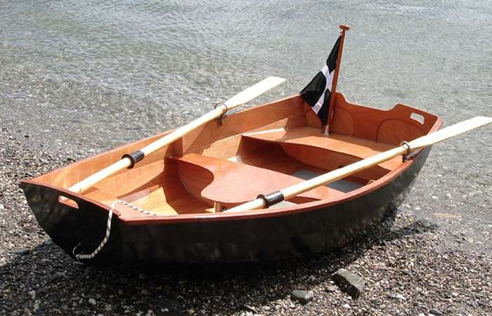 Home built clinker Eastport pram dinghy