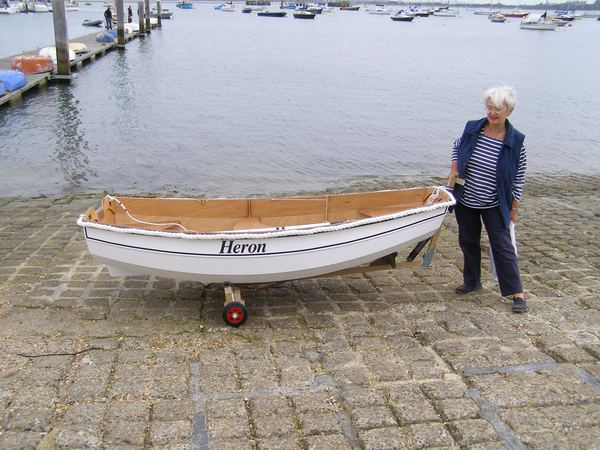 Small pram dinghy built at home