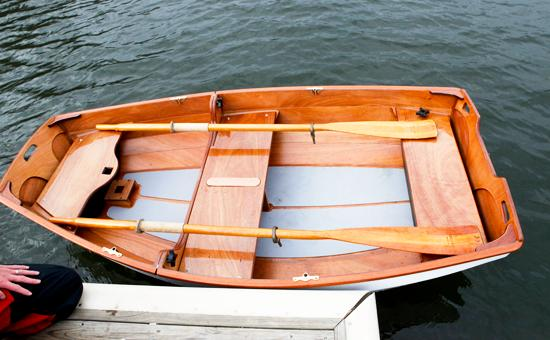 Nesting Eastport Pram dinghy with pre-cut non-slip flooring