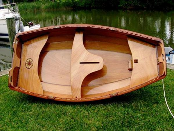 Eastport pram built to a high standard by a careful customer of Fyne Boat Kits