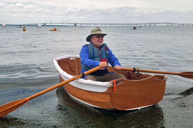 The Eastport Ultralight Dinghy is a tiny but capable rowing tender