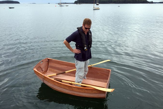 The Eastport Ultralight Dinghy is stable despite it's size
