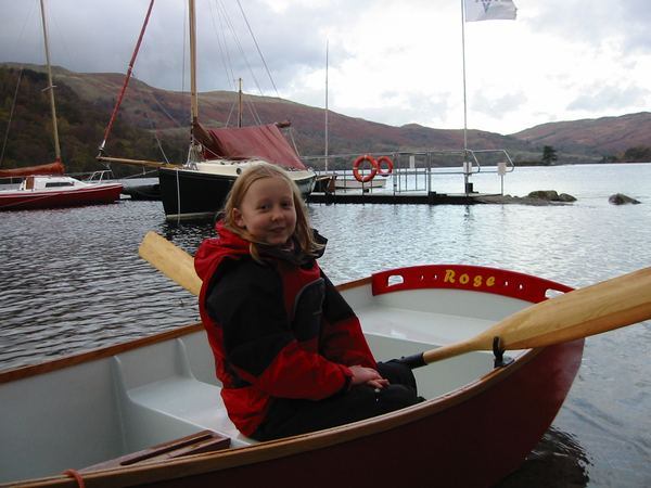 Roses first real sailing boat