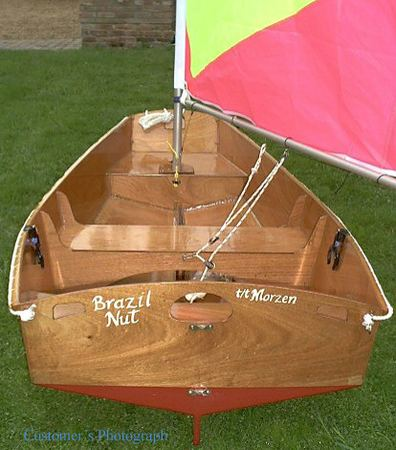 Yacht tender Elterwater pram made from wood but very light
