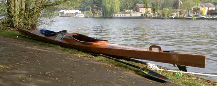 Endurance kayak designed for the Devizes to Westminster marathon