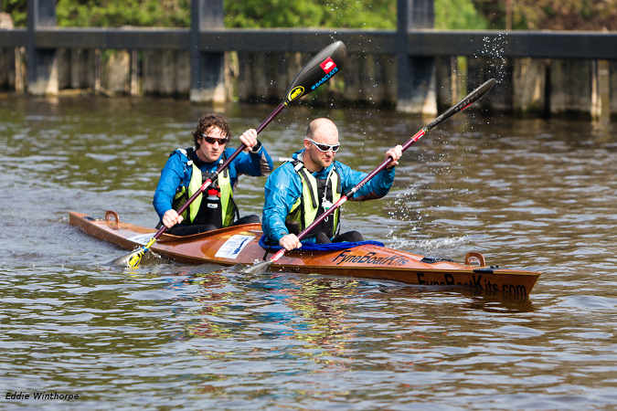 Endurance wooden racing kayak by Fyne Boat Kits