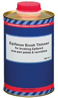 Epifanes brush thinner for brushing or rolling most one-component Epifanes primers, paints and varnishes