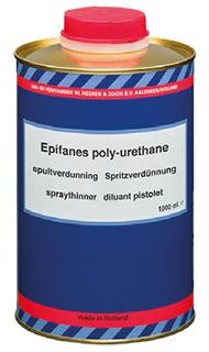 Epifanes polyurethane brush thinner is a fast-evaporating thinner for spraying polyurethane yacht coatings