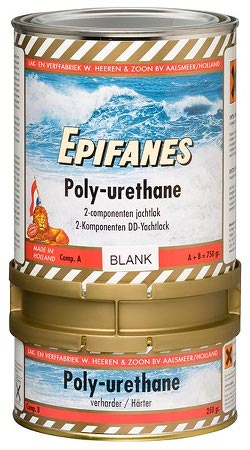Epifanes two-component Polyurethane yacht topcoat with a high gloss and excellent weather resistance
