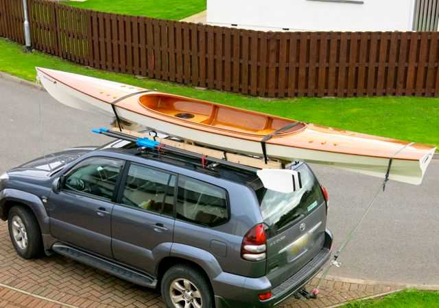 The Expedition Wherry can go on a car roof rack