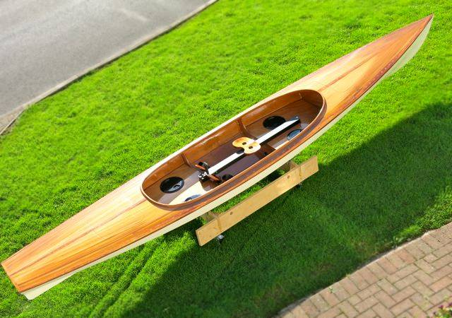 The Expedition Wherry decked rowing boat with a sliding seat