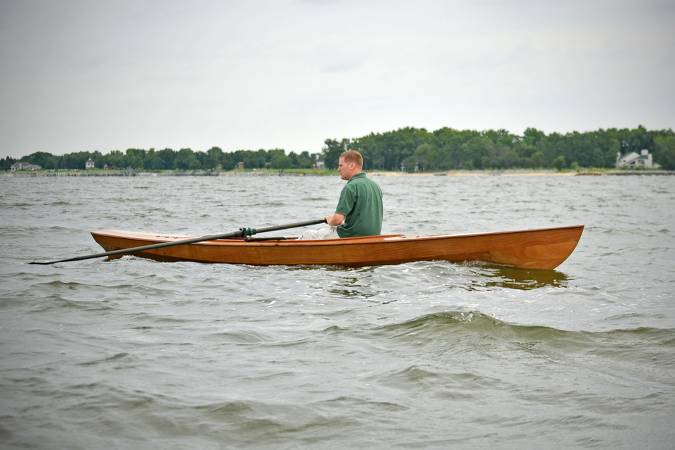 The seaworthy Expedition Wherry for fitness-oriented rowers who want to go out in cold or rough water