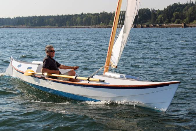 The Faering Cruiser is a serious rowing and sailing boat for coastal cruising